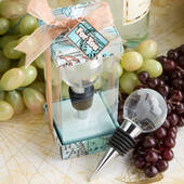 Glass Globe Design Wine Bottle Stopper Favors