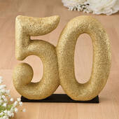 Glittered 50 Centerpiece