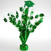 Green Graduation Cap Foil Centerpiece