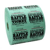 Green Raffle Tickets