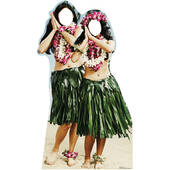 Hawaiian Hula Girls Standin Cardboard Cutout