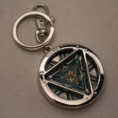 Iron Man Arc Reactor Pewter Keychain