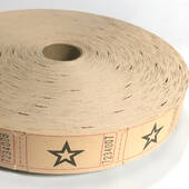 Light Brown Star Ticket Roll