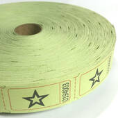 Light Green Star Ticket Roll