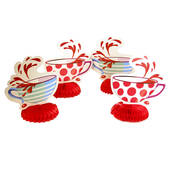 "Mad Hatter Tea Party 6"" Teacup Centerpieces"