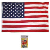 Made In The USA 3 X 5 Poly Flag With Booklet
