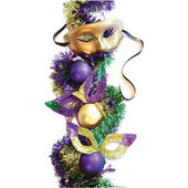 Mardi Gras Party Masks Cardboard Cutout