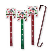 Green Or Red Metal Wreath Hanger