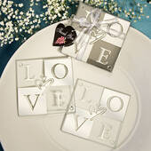 Mirror Finish Love Coaster Sets