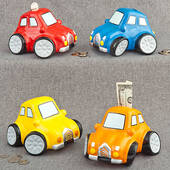 Multicolored Ceramic Car Banks