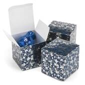 Navy And Silver Foil Patterned Boxes