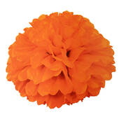 "Orange 16"" Puff Ball Decoration"