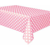 Pink Dots Plastic Table Cover - Rectangle