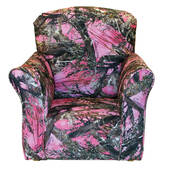 Pink True Timber Print Toddler Rocker - Cotton Rocking Chair