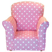 Pink With White Polka Dots Toddler Rocker - Cotton Rocking Chair