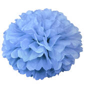 "Powder Blue 16"" Puff Ball Decoration"