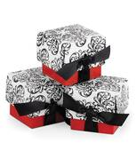 Red Filigree Favor Boxes