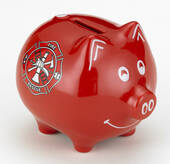 Red Fire Fighter Piggy Bank