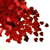 Red Heart Foil Confetti