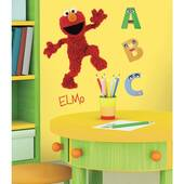 Sesame Street Elmo Peel And Stick Giant Wall Decal