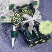 Shamrock  Trinity Love Knot Bottle Stoppers