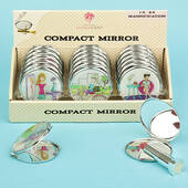 Six Assorted Chic Chicks Themed Mirror Compacts