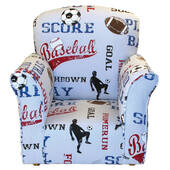 Sports Print Toddler Rocker - Cotton Rocking Chair