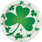 St. Patrick's Day Paper Plates - 8 5/8""