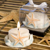 Starfish Design Favor Saver Candle Favors