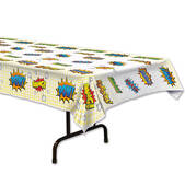 Superhero Plastic Table Cover - Rectangle