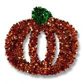 Tinsel Pumpkin Wall Decoration