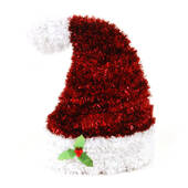 3D Tinsel Santa Hat Centerpiece