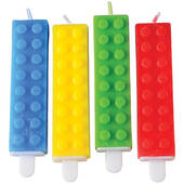Toy Building Block Birthday Candles
