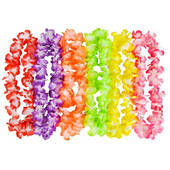 Two Tone Large Flower Petal Leis