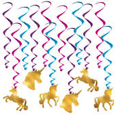 Unicorn Hanging Whirls