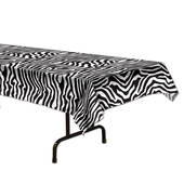 Zebra Print Plastic Table Cover - Rectangle