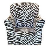 Zebra Print Toddler Rocker - Cotton Rocking Chair