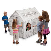 Color Your Own Grocery Store Playhouse