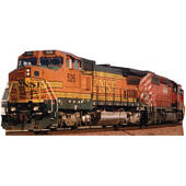 BNSF Train 526 Lifesized Standup