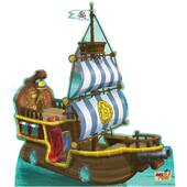 "54"" Bucky Pirate Ship-Standup"