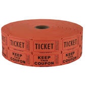 Orange Double Raffle Ticket Roll