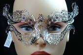 Venetian Decorative Silver Metal Mask
