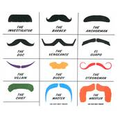 Mustache Finger Temporary Tattoos