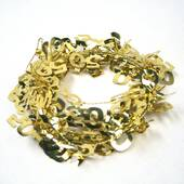 50 Gold Wire Garland
