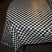 Checkered Flag Plastic Table Cover - Rectangle