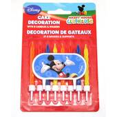 Mickey Mouse Clubhouse Cake Decoration And Candles