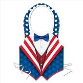 Red White And Blue Uncle Sam Patriotic Vest