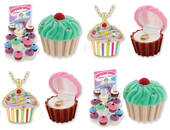 Cupcake Necklace And Gift Box