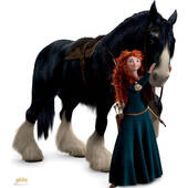 Disney's Brave Merida And Angus Lifesized Standup