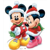 Mickey And Minnie Christmas Lifesized Standup